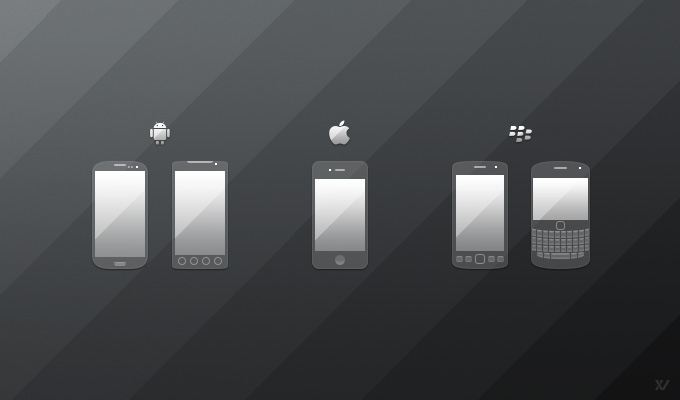 Mobile Phone Icons PSD