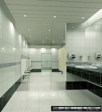 Model of public toilet 3D Model