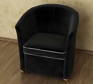 Modern and comfortable black single sofa 3D Model