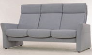 Modern and comfortable dark gray sofa 3D Model