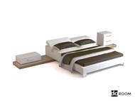 Modern and elegant bed combination 3D Model
