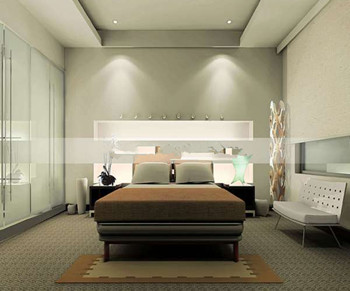 Modern and elegant minimalist bedroom 3D Model