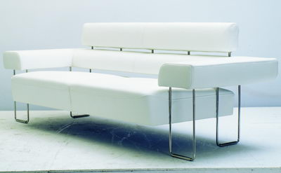 modern and white sofa 3D Model