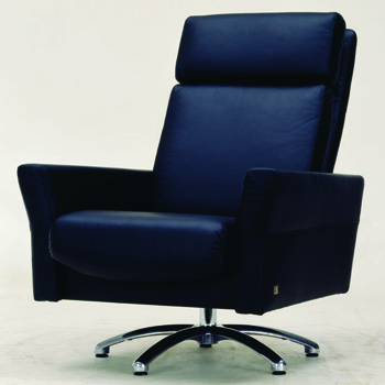 Modern black leather boss chair 3D Model