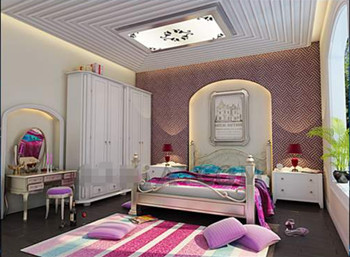 Modern bright colors small bedroom 3D Model