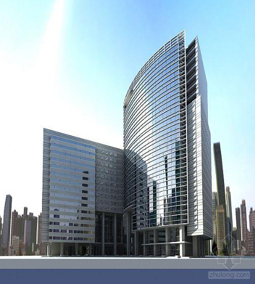 Modern Building Exterior Series A 3D Model