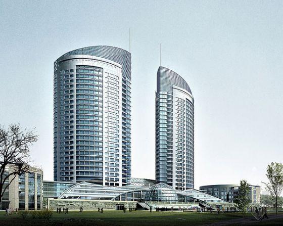 Modern Building Exterior Series B 3D Model