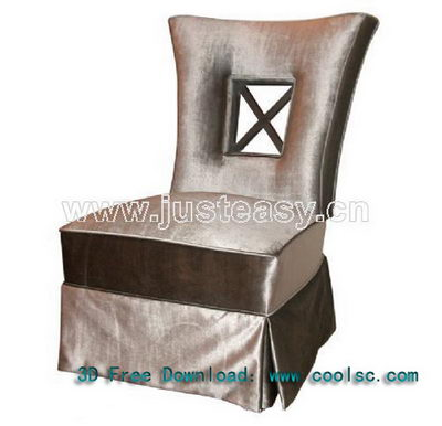 Modern Chinese soft sofa chair 3D Model