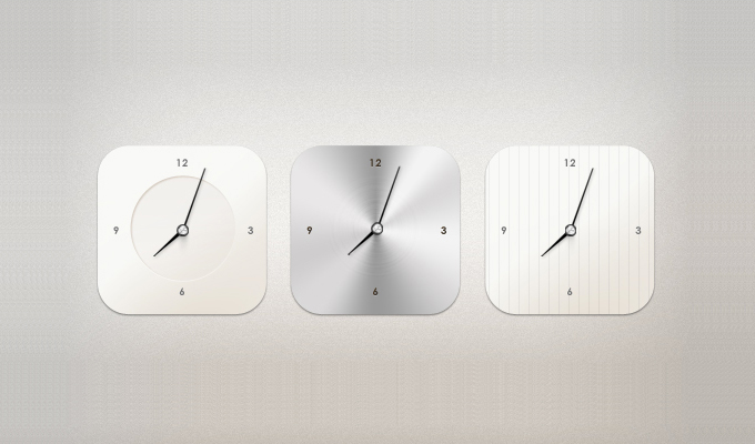 Modern Clock Widget PSD