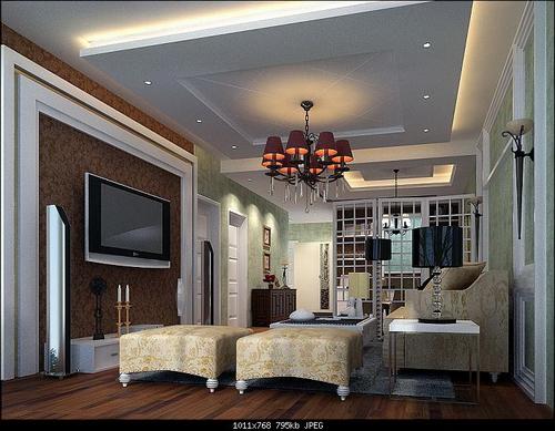 Modern Compact Living Room 3D Model