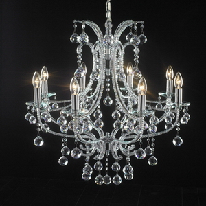 Modern crystal chandelier Model-10 3D Model
