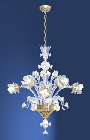 Modern crystal chandelier Model-14 3D Model