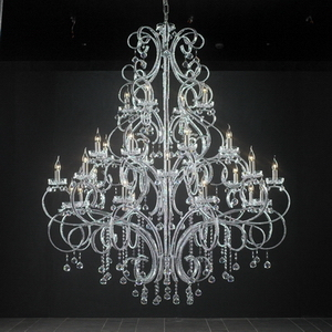 Modern crystal chandelier Model-19 3D Model