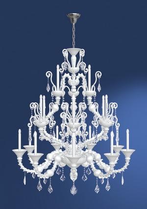 Modern crystal chandelier Model-22 3D Model