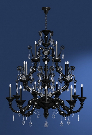 Modern crystal chandelier Model-23 3D Model