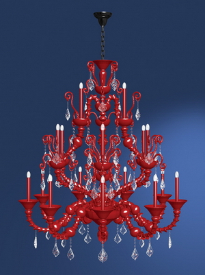 Modern crystal chandelier Model-24 3D Model