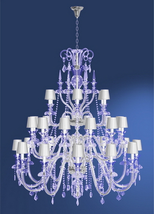 Modern crystal chandelier Model-28 3D Model