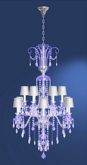 Modern crystal chandelier Model-29 3D Model