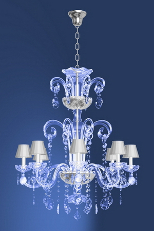 Modern crystal chandelier Model-30 3D Model