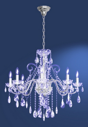 Modern crystal chandelier Model-31 3D Model