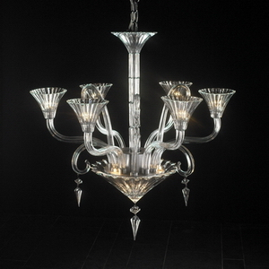 Modern crystal chandelier Model-51-5 3D Model