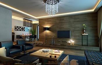 Modern dark business living room 3D Model