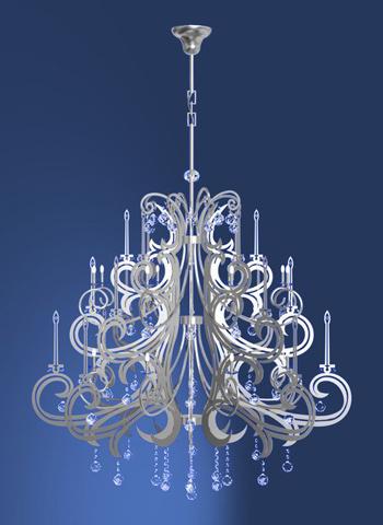 Modern European crystal relief chandeliers 3D Model