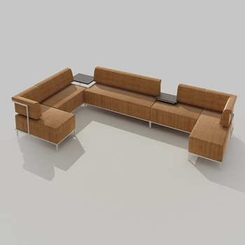 Modern fashion simple type whole assorted sofa 3D models
