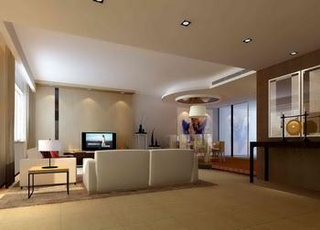 Modern fresh and elegant living room 3D Model