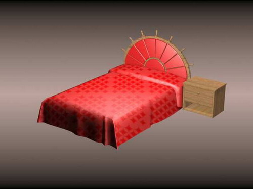 Modern furniture 004-beds and chairs 32 3D Model