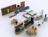 Modern furniture !1-3 3D Model