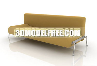 Modern Furniture Model�� Yellow Lounge Armchair Livingroom Furniture 3D Model