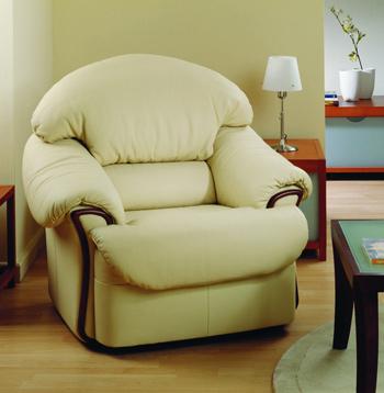 Modern light color single leather sofa 3D Model