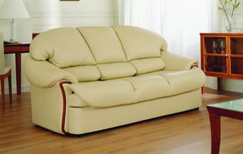 Modern light color three seats sofa 3D Model
