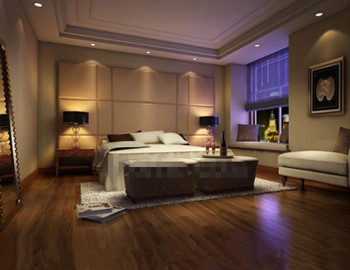 Modern luxury and comfortable bedroom 3D Model