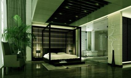 Modern luxury bedroom model 3D Model