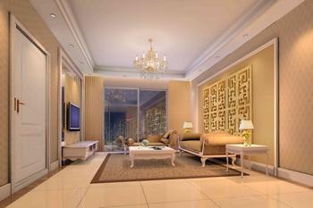Modern luxury European-style living room scene model 3D Model