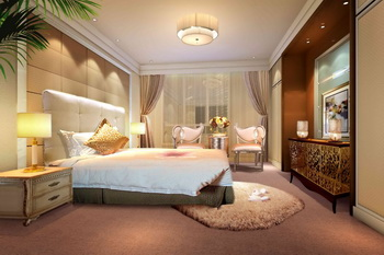 Modern luxury spacious bedroom 3D Model