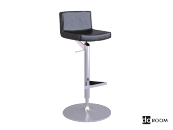 Modern metal frame high chair 3D Model