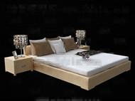 Modern minimalist comfortable double bed 3D Model