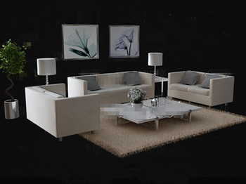 Modern minimalist sofa combination 3D Model