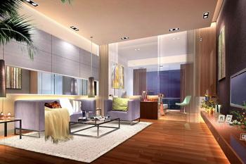 Modern minimalist style living room scene 3D Model