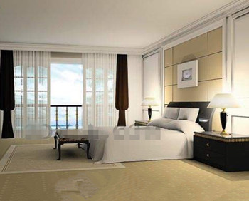 Modern minimalist stylish bedroom 3D Model