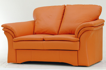 Modern orange double seats sofa 3D Model