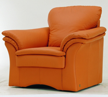 Modern orange single leather sofa 3D Model