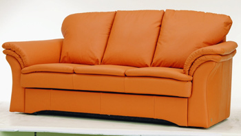 Modern orange three seats sofa 3D Model