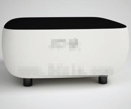 Modern personalized black and white sofa 3D Model