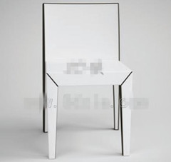 Modern pure white backed chair 3D Model