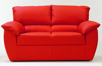 Modern red double seats fabric sofa 3D Model