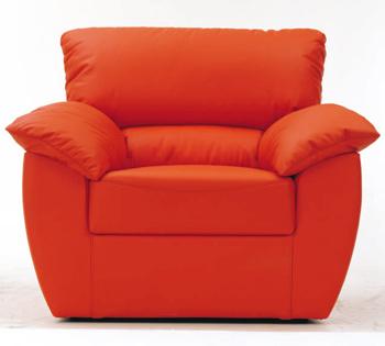 Modern red single fabric sofa 3D Model